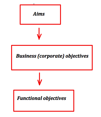 business aims objectives 3 business organisations level 2 unit 2 1 be able to set business aims and objectives 2 understand the main functional areas in business organisations.