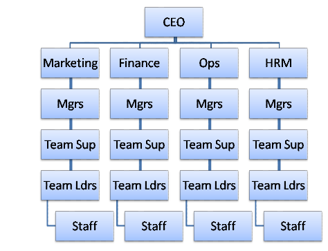 question - Organisational Hierarchy Chart