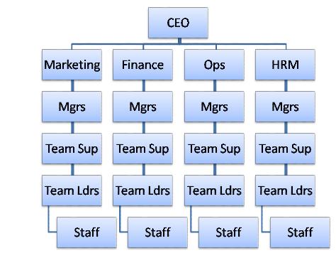 organizational structure of mcdonald corporation